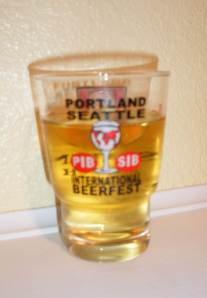 Portland International Beerfest 2011 Glass